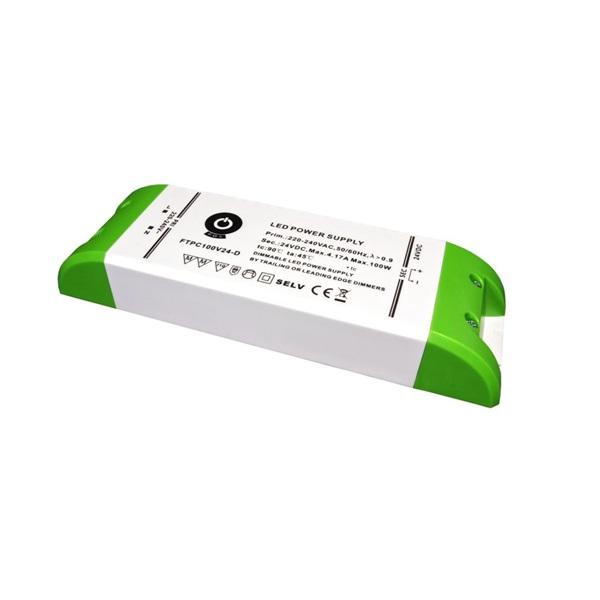 POS POWER FTPC100V24-D 24V/4.16A 100W IP20 szabályozható LED tápegység - 1
