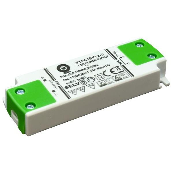 POS POWER FTPC15V12-C 12V/1.25A 15W IP20 LED tápegység - 1