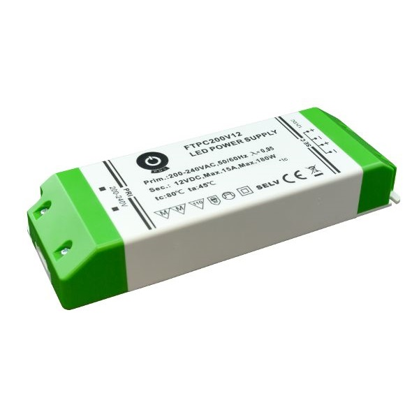 POS POWER FTPC200V12 12V/15A 180W IP20 LED tápegység - 1