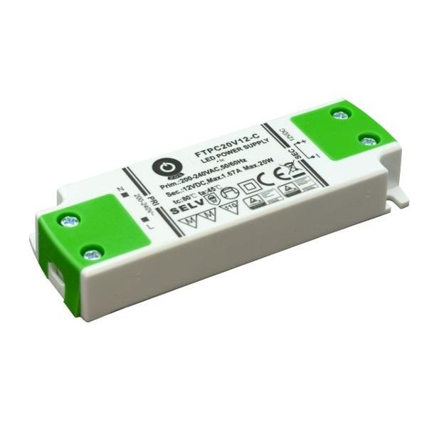POS POWER FTPC20V12-C 12V/1.67A 20W IP20 LED tápegység - 1