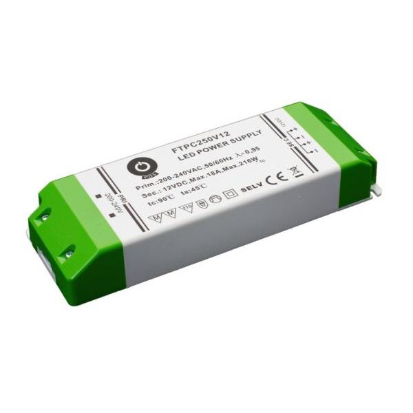 POS POWER FTPC250V12 12V/18A 216W IP20 LED tápegység - 1