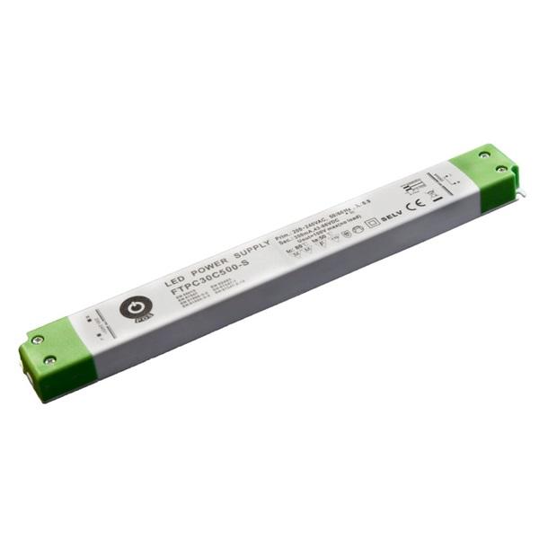 POS POWER FTPC30C500-S 500mA/30~60V 30W IP20 vékony LED tápegység - 1