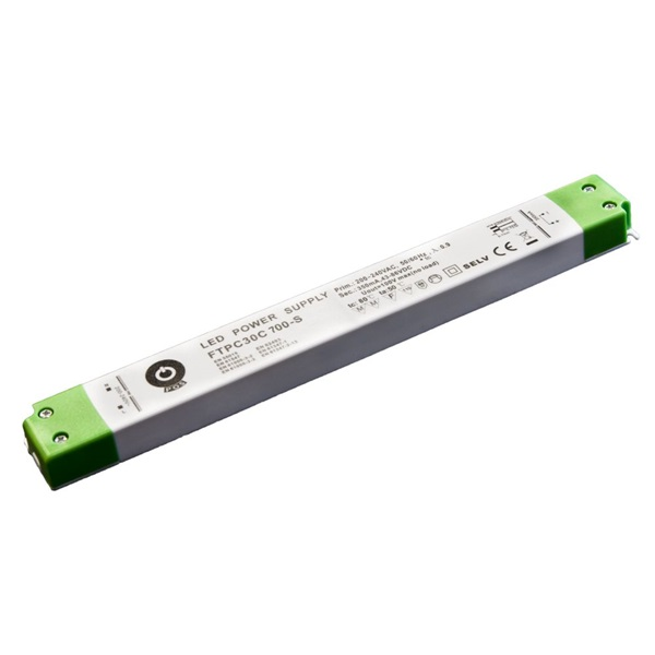 POS POWER FTPC30C700-S 700mA/21~43V 30,1W IP20 vékony LED tápegység - 1