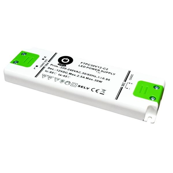 POS POWER FTPC30V12-C2 12V/2.5A 30W IP20 LED tápegység - 1