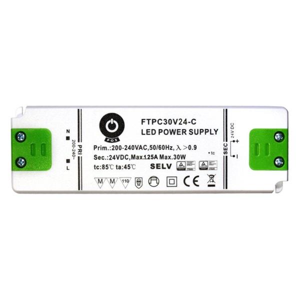 POS POWER FTPC30V24-C 24V/1.25A 30W IP20 LED tápegység - 1