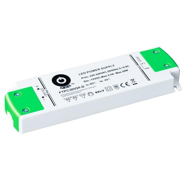 POS POWER FTPC30V24-D 24V/1.25A 30W IP20 szabályozható LED tápegység - 1