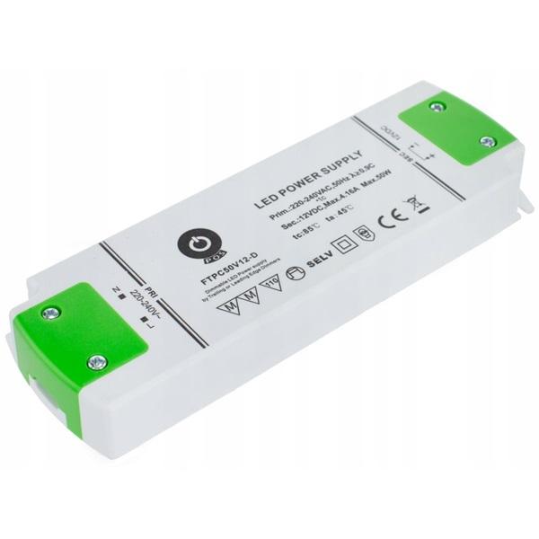 POS POWER FTPC50V12-D 12V/5A 50W IP20 szabályozható LED tápegység - 1