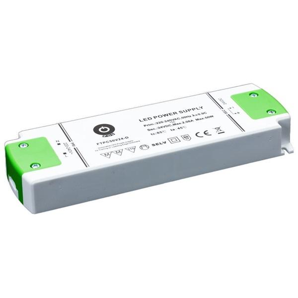 POS POWER FTPC50V24-D 24V/2.5A 50W IP20 szabályozható LED tápegység - 1