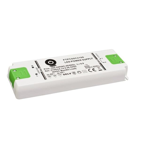 POS POWER FTPC60C2100 2100mA/14.5~28.5V 59,8W IP20 LED tápegység - 1
