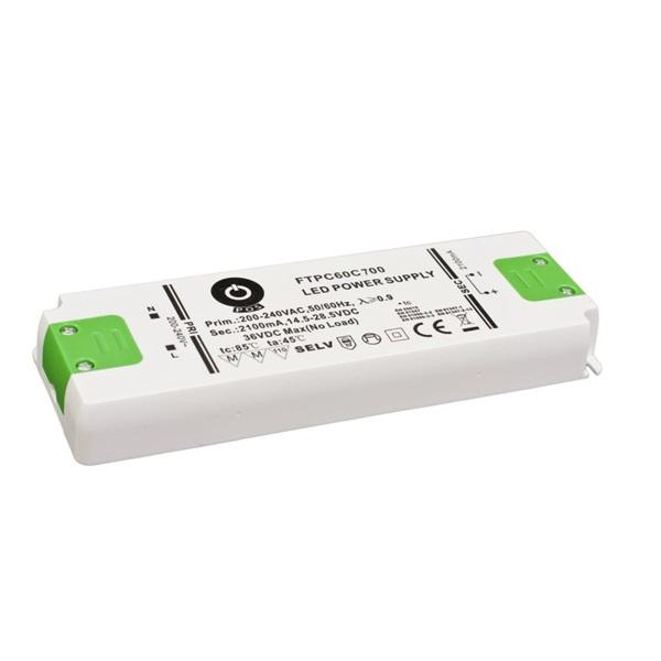 POS POWER FTPC60C700 700mA/43~86VDC 60,2W IP20 LED tápegység - 1
