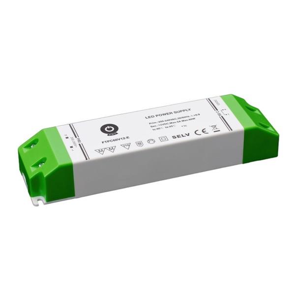 POS POWER FTPC60V12-E 12V/5A 60W IP20 gazdaságos LED tápegység - 1