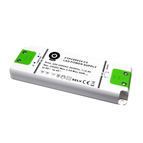 POS POWER FTPC60V24-C2 24V/2.5A 60W IP20 LED tápegység - 1