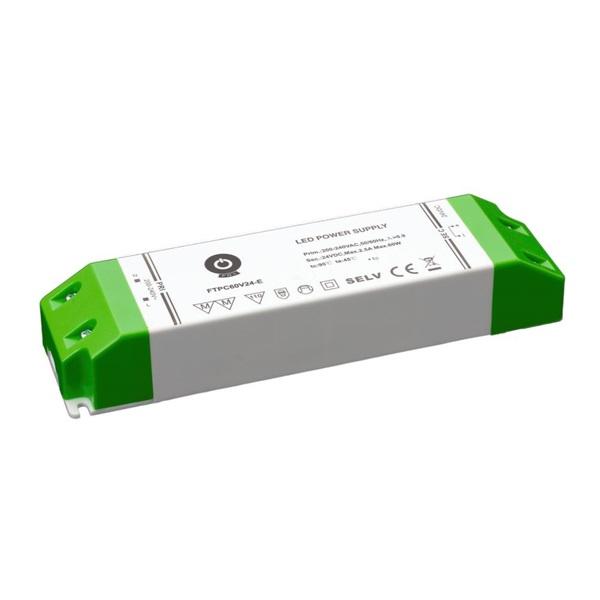 POS POWER FTPC60V24-E 24V/2.5A 60W IP20 gazdaságos LED tápegység - 1