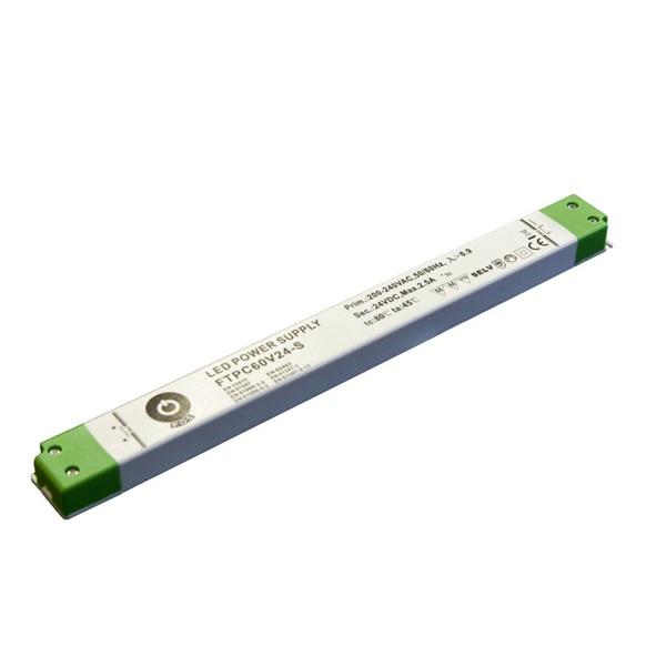 POS POWER FTPC60V24-S 24V/2.5A 60W IP20 vékony LED tápegység - 1