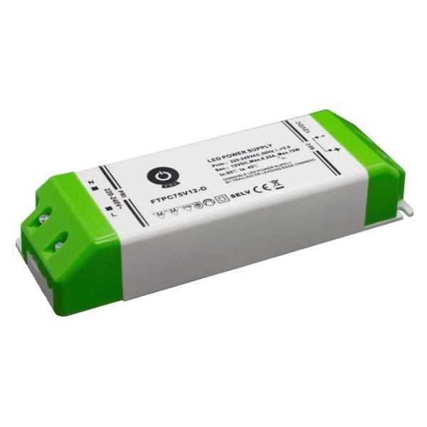 POS POWER FTPC75V12-D 12V/5A 75W IP20 szabályozható LED tápegység - 1