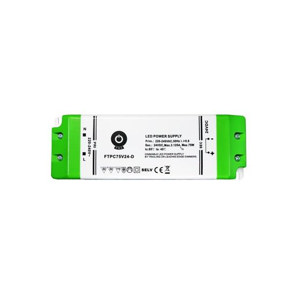 POS POWER FTPC75V24-D 24V/2.5A 75W IP20 szabályozható LED tápegység - 1