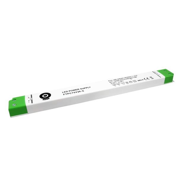 POS POWER FTPC75V24-S 24V/3.12A 75W IP20 vékony LED tápegység - 1