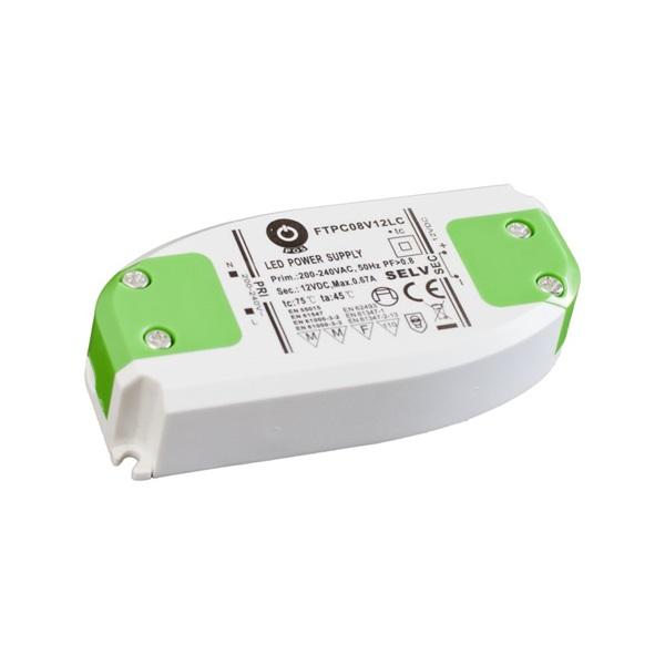 POS POWER FTPC8V12 12V/0.67A 8W IP20 LED tápegység - 1