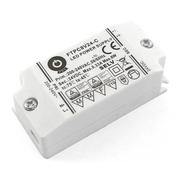 POS POWER FTPC8V24-C 24V/0.33A 8W IP20 LED tápegység - 1