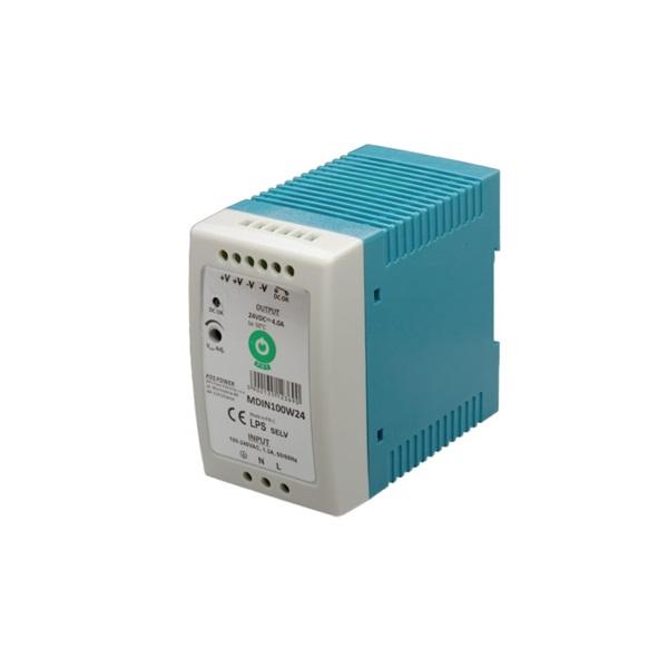 POS POWER MDIN100W24 24V/4A 96W DIN sínre szerelhető LED tápegység - 1
