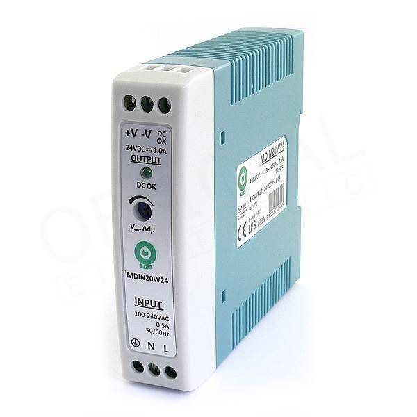 POS POWER MDIN20W24 24V/1A 20W DIN sínre szerelhető LED tápegység - 1
