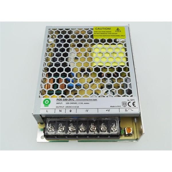 POS POWER POS-100-24-C 24V/4.5A 108W IP20 fém házas LED tápegység - 1