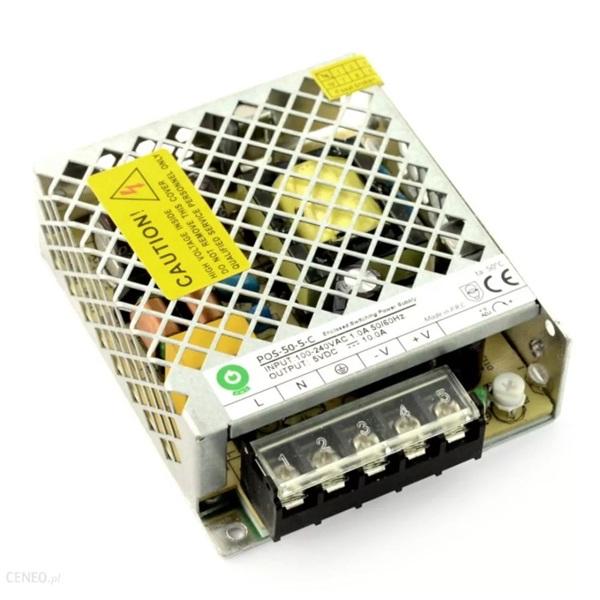 POS POWER POS-50-5-C 5V/10A 50W IP20 fém házas LED tápegység - 1