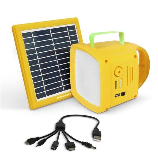 Promate SolarTorch-1 3 az 1-ben napelem és FM rádiós 4400 mAh powerbank lámpa kemping szett - 1