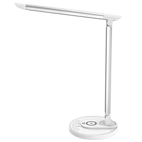Taotronics TT-DL036 fehér LED lámpa, vezeték nélküli töltővel, gyorstöltő funkcióval - 1