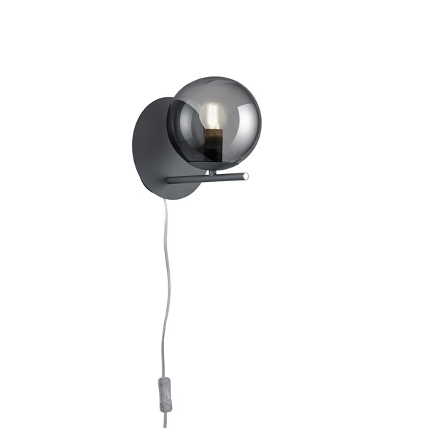 TRIO 202000142 Pure 28W antracit fali lámpatest - 1
