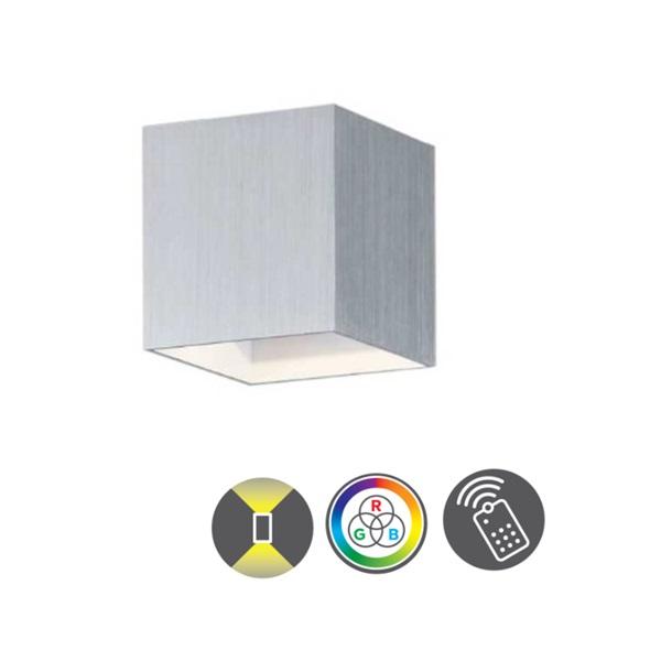 TRIO 253310105 Figo alumínium színű színváltós LED fali lámpa - 1