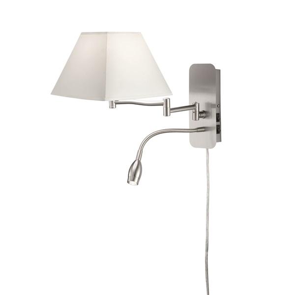 TRIO 271370201 HOTEL 1x E14 max.40W fehér fali lámpa - 1