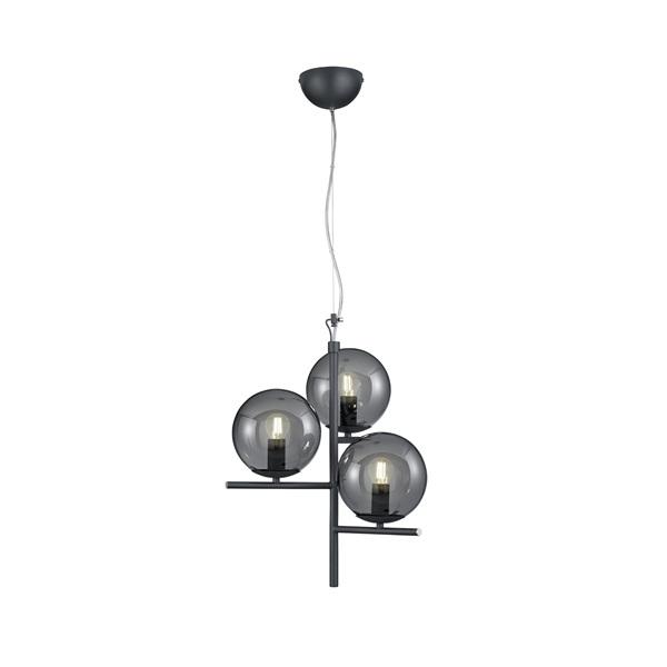 TRIO 302000342 Pure 28W antracit függesztett lámpatest - 1
