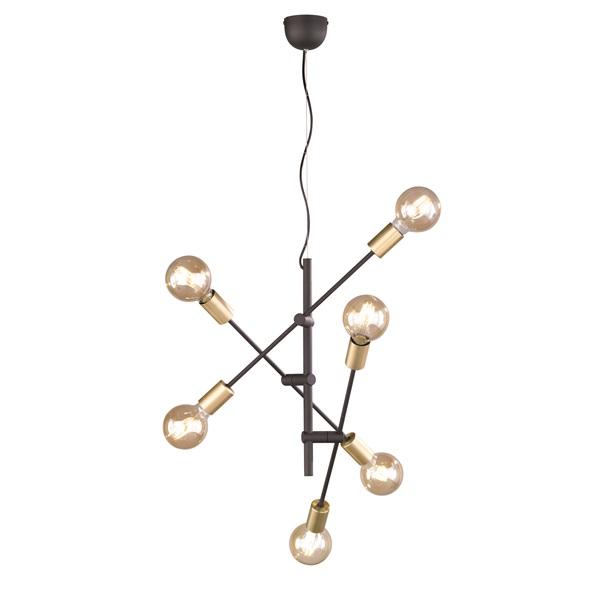 TRIO 306700632 Cross 28W fekete függesztett lámpatest - 1