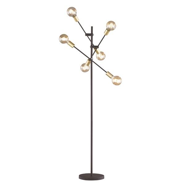 TRIO 406700632 Cross 28W E27 fekete álló lámpatest - 1