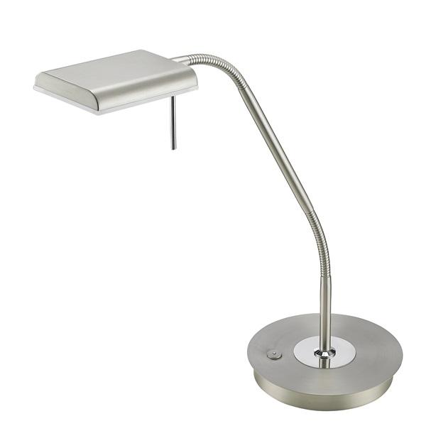 TRIO 520910107 Bergamo 12W 1100lm 3000K nikkel asztali lámpatest - 1