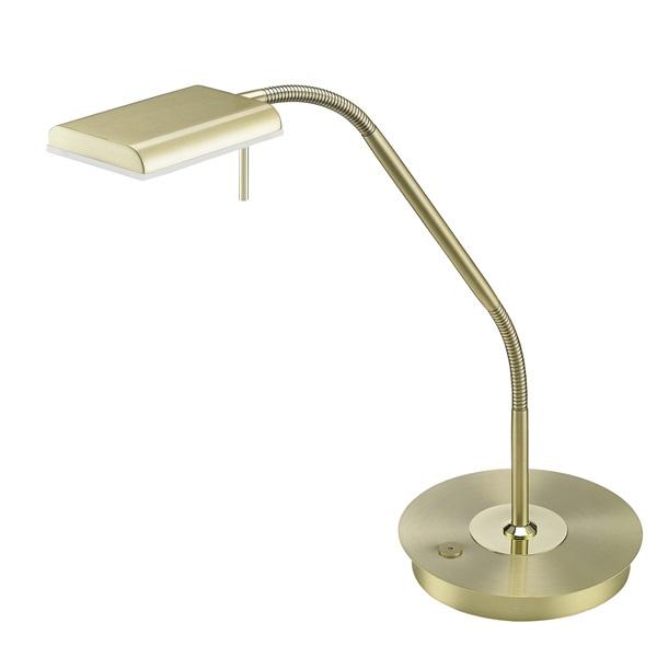 TRIO 520910108 Bergamo 12W 1100lm 3000K sárgaréz asztali lámpatest - 1