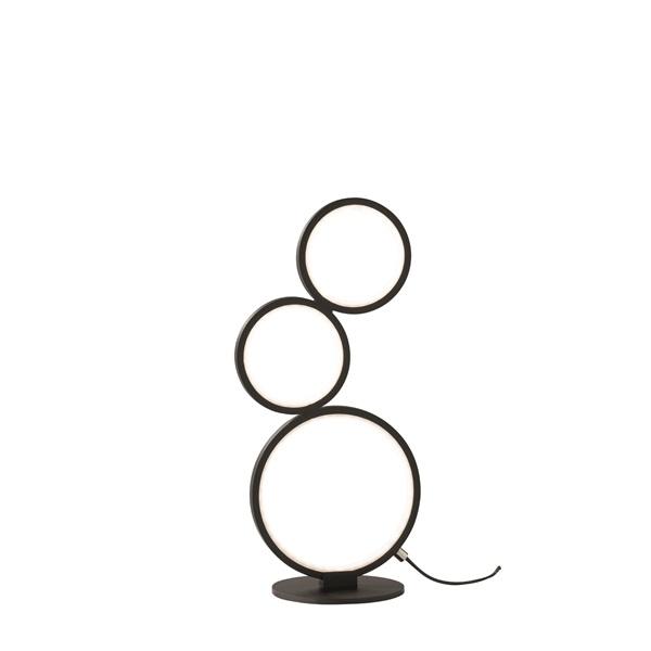 TRIO 522610332 Rondo 17W 1500lm 3000K fekete asztali lámpatest - 1