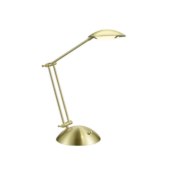 TRIO 572410108 Calcio 6W 560lm 3000K sárgaréz asztali lámpatest - 1