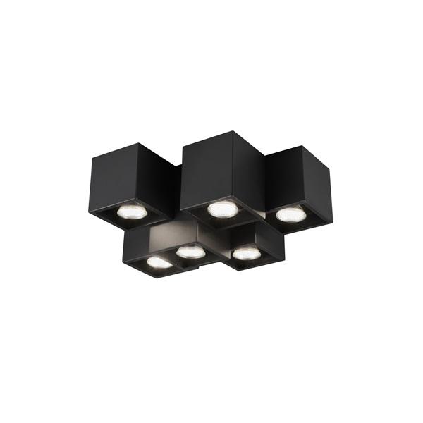 TRIO 604900632 Fernando 35W GU10 fekete mennyezeti lámpatest - 1