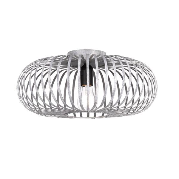 TRIO 606900161 Johann 60W E27 antik szürke mennyezeti lámpatest - 1