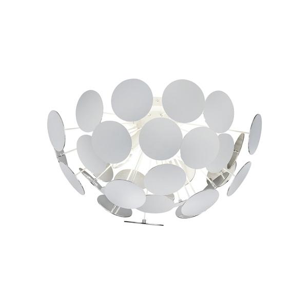 TRIO 609900331 Discalgo 40W E14 fehér mennyezeti lámpatest - 1