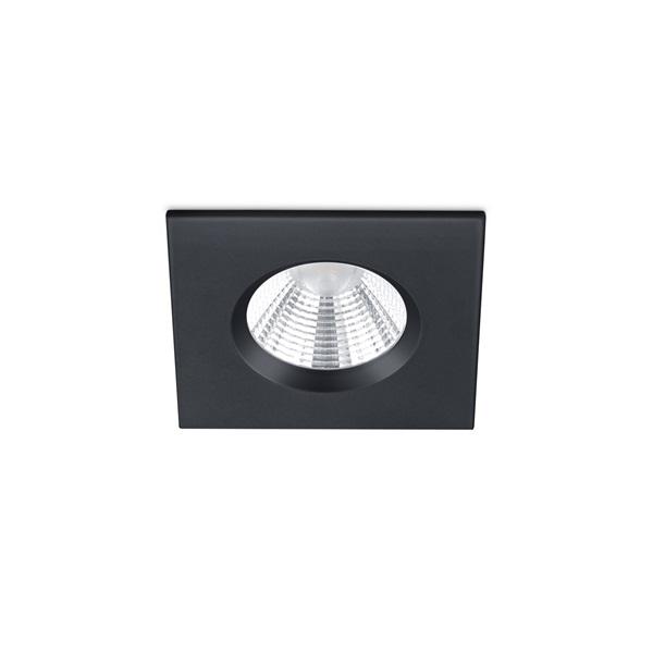 TRIO 650610132 Zagros 5W 345lm 3000K fekete süllyesztett lámpatest - 1