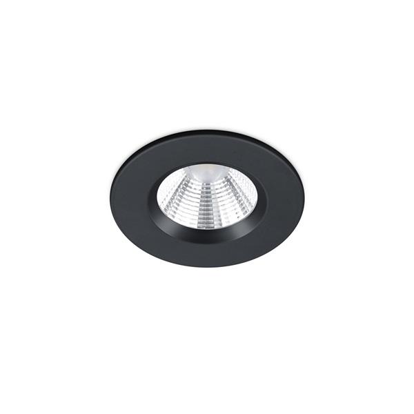 TRIO 650710132 Zagros 5W 345lm 3000K fekete süllyesztett lámpatest - 1