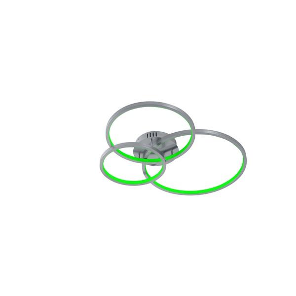 TRIO 652710307 AARON 40W RGBW-LED/ 3000-6000K/ 3200Lm nikkel mennyezeti lámpatest - 1