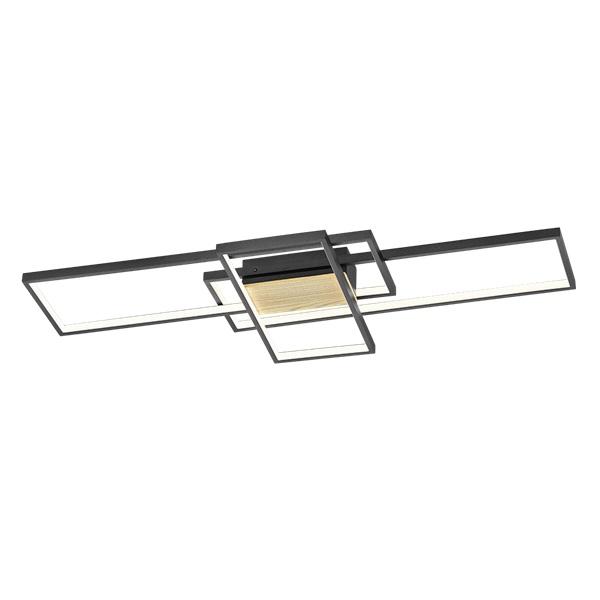 TRIO 672610332 Tucson fekete fényerőszabályzós fali/mennyezeti LED lámpa - 1