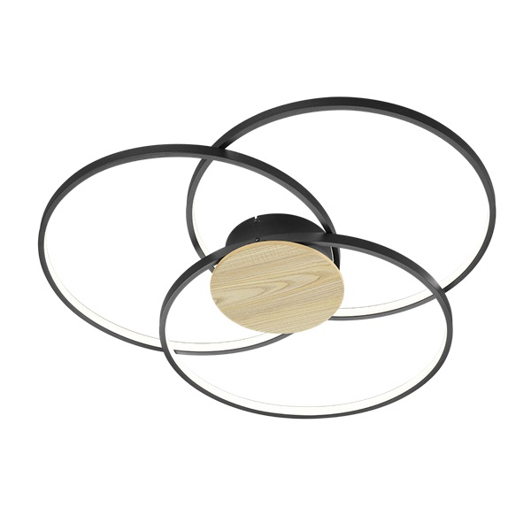 TRIO 673210332 Sedona fekete mennyezeti LED lámpa - 1