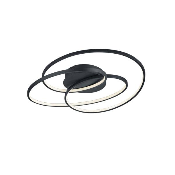 TRIO 673916032 Gale fekete fényerőszabályzós mennyezeti LED lámpa - 1