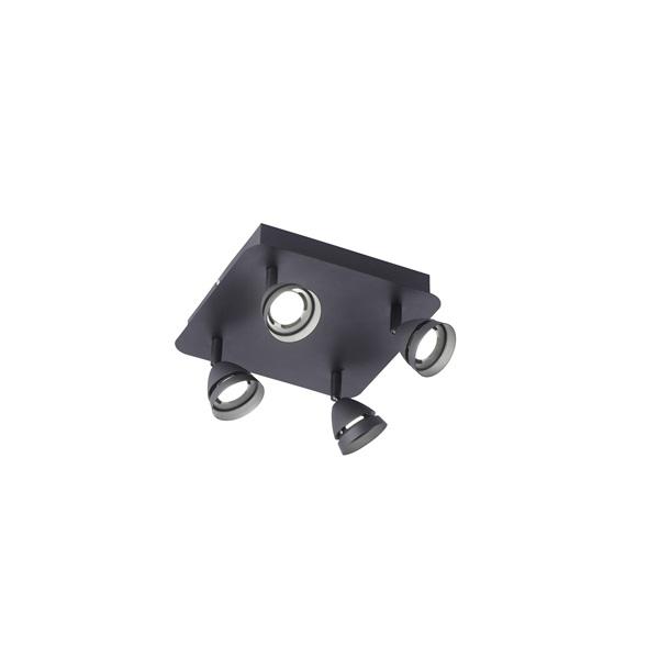TRIO 850010432 Gemini fekete 4-es mennyezeti spot lámpa - 1