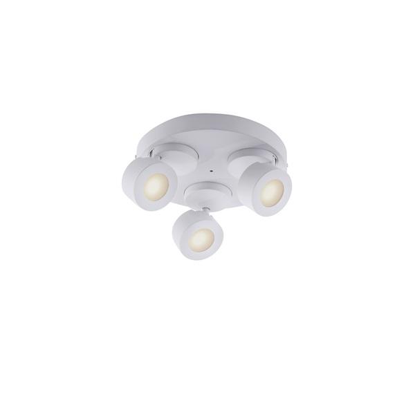 TRIO 850190331 SANCHO 3 x 3W RGBW-LED/ 3000-5000K/ 300Lm fehér mennyezeti lámpatest - 1